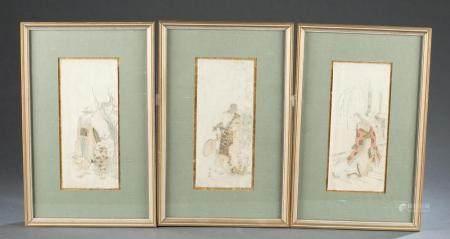 3 JAPANESE WOODBLOCK PRINTS, RYURYUKYO SHINSAI.