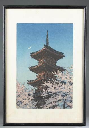 JAPANESE WOODBLOCK PRINT, KAWASE HASUI, TOSHOGU,