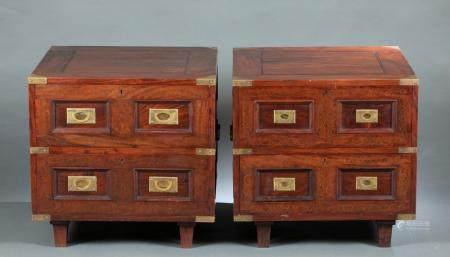 2 M. HAYAT & BROS LTD, ROSEWOOD SIDE TABLES.
