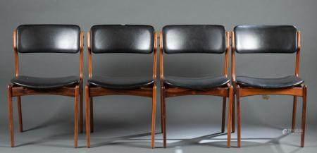 4 ERIK BUCH FOR MOBLER, DANISH CHAIRS, 20TH C.