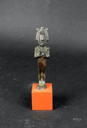 Statuette représentant Osiris portant les instruments aratoires Bronze 9,5 cm Egypte antique Ba