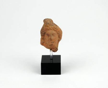 Tête d'Harpocrate Terre cuite 4,5 cm Période romaine