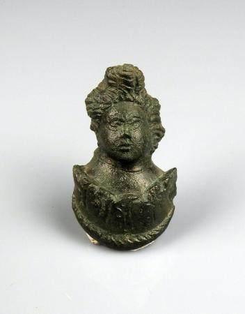 Importante applique en forme de personnage Bronze 5,5 cm Période romaine