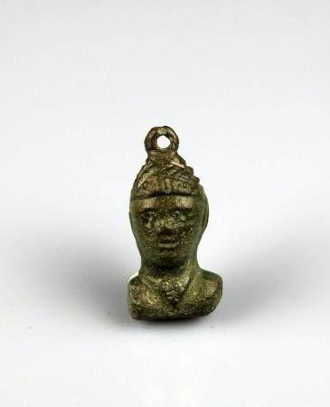 Poids de balance en forme de personnage masculin Bronze 3,3 cm Période romaine