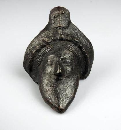 Buste en métal représentant un homme barbu 9,2 cm