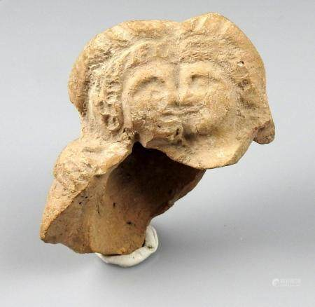 Buste représentant un couple d'amoureux Terre cuite 6,5 cm Période romaine