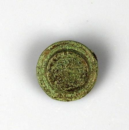 Fibule monétiforme reprenant une monnaie gauloise des Bellovaques Bronze 2,3 cm Période carolin