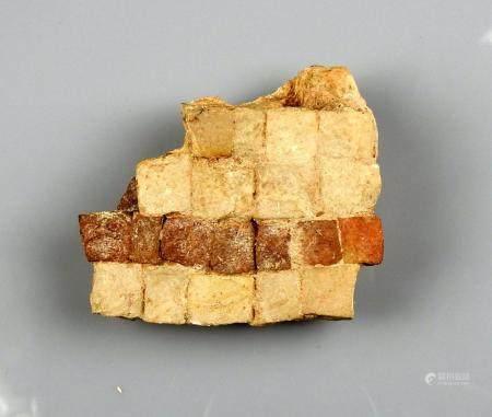 Fragment de mosaique 6,5 cm Période romaine