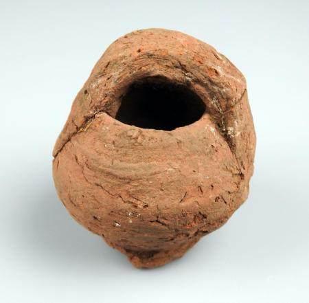 Petite cruche en céramique rouge Terre cuite 7 cm accidents Période romaine