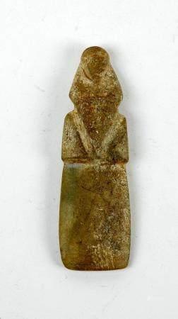 Oiseau Pico Pico Jade ou jadéite 7,6 cm Précolombie Casta Rica Culture Guanacaste Ier millénair