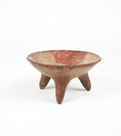 Coupe tripode à décor géométrique Terre cuite 16 cm Amérique Précolombienne