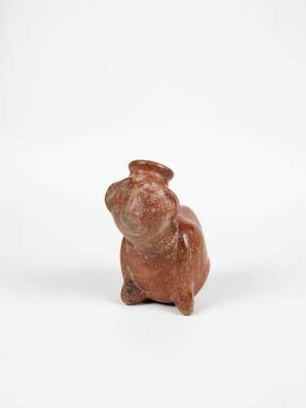 Vase anthropomorphe à patine rouge brillant Terre cuite Culture Colina 14 cm