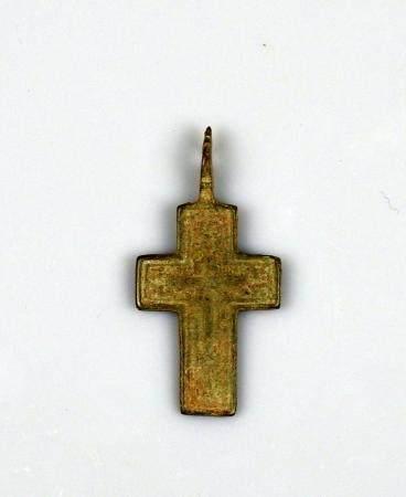 Crucifix à décor de croix Bronze 3,8 cm Période médiévale