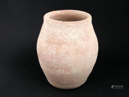 Vase ouvert de forme légèrement tronconique Terre cuite ocre 15 cm Période romaine