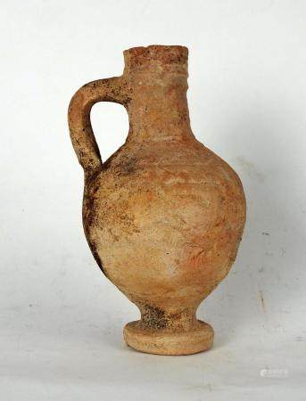 Pichet à décor géométrique incisé Terre cuite 16 cm Période romaine
