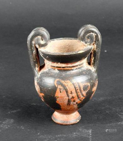Cratère miniature à décor de femme au chignon Terre cuite 8,5 cm Style de la Grèce antique