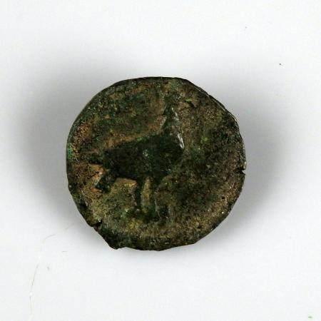 BRUTTIUM LOKRES Unité de bronze un aigle au revers Monnaie grecque