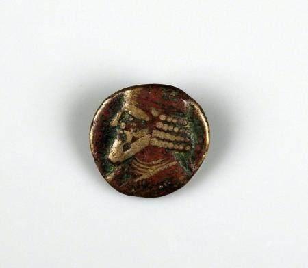 PARTHES Monnaie en bronze probablement octochalkos