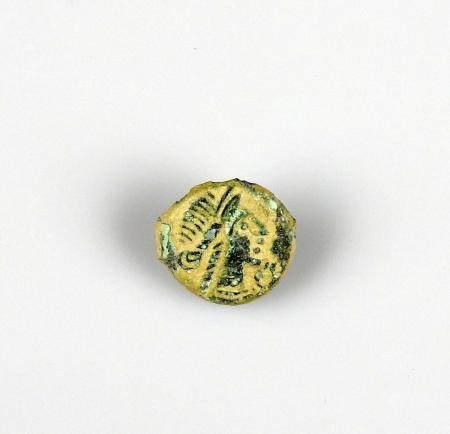 NIMES Volques Arecomiques Bronze au démos à la légende AREC Monnaie gauloise