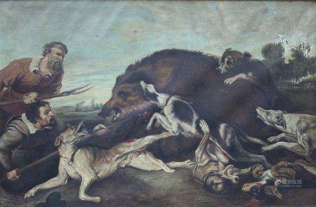 Nach Frans SNYDERS (1579 - 1657). Eber Jagd.