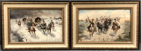 Adolf BAUMGARTNER-STOILOFF (1850 - 1924). 2 Gemälde.