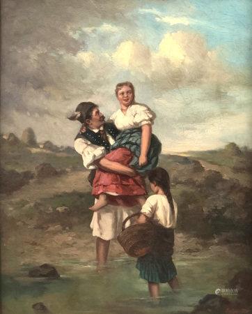 Pál BÖHM (1839 - 1905). Ungarischer Galant. 1870.