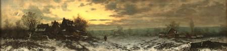 Joseph F. HEYDENDAHL (1844 - 1906). Heimkehr im Winter.