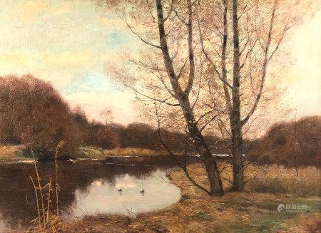 Peter Paul MÜLLER (1853 - 1930). Herbstliche Flusslandschaft.