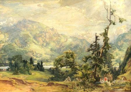 Gustav EYER (1887 - 1946). Liebespaar in den Alpen. 1934.