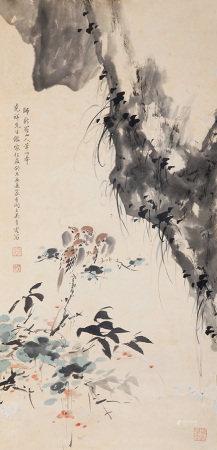 吳青霞 花鳥