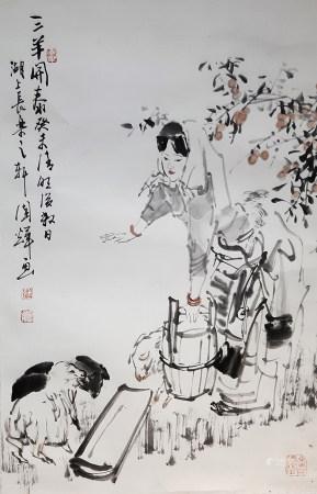 劉國輝 三羊開泰