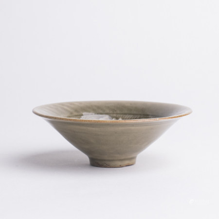 Chinese Yaozhou Celadon Porcelain Lotus Bowl