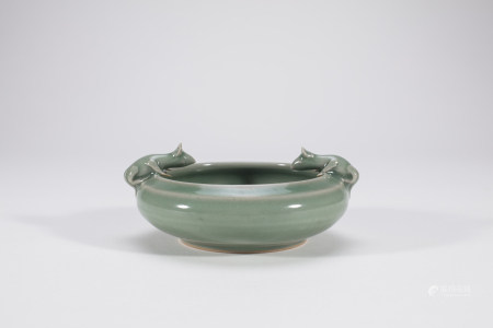 Chinese Longquan Celadon Porcelain Brush Washer