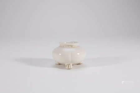 Chinese Small Dingyao Porcelain Incense Burner