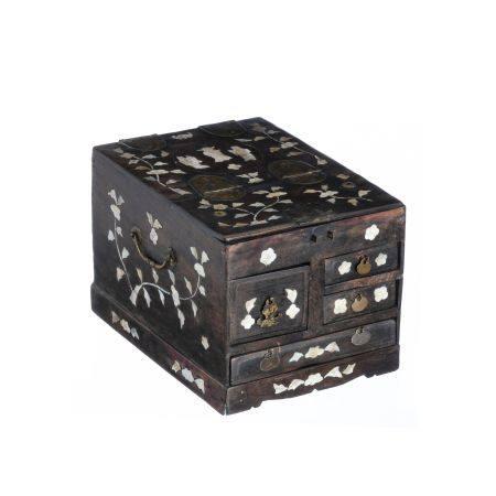 Chinese beauty & jewelery box, 19th