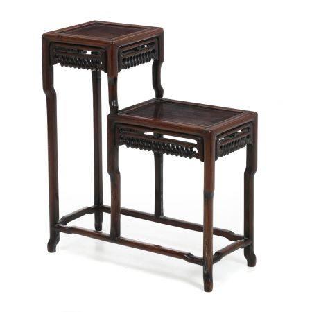 Chinese etagere Hongmu table, Minguo