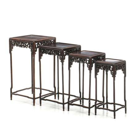 Four Chinese nesting tables, Minguo