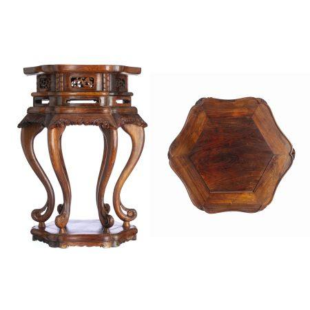 Chinese Hongmu carved table