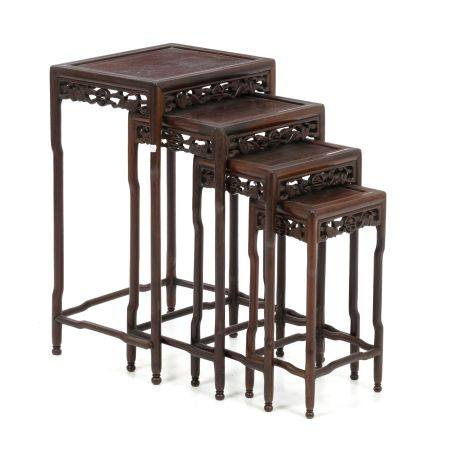 Four Chinese tables to fit in hongmu, Minguo