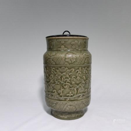明 龍泉釉青磁花瓶