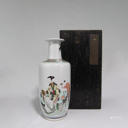 清康煕 粉彩唐子花瓶