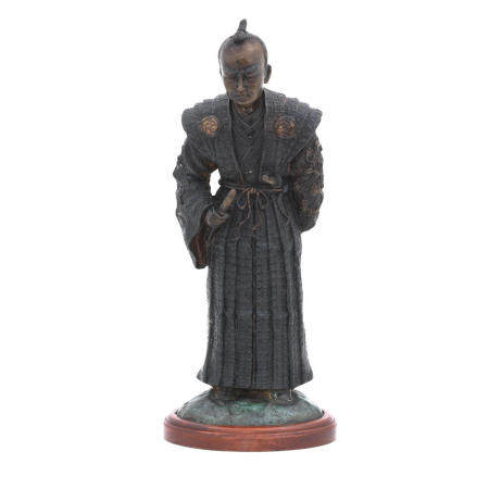 A Cast Bronze model of a Samurai, 20th century