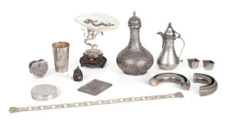 A collection of Eastern silver 19th/20th century