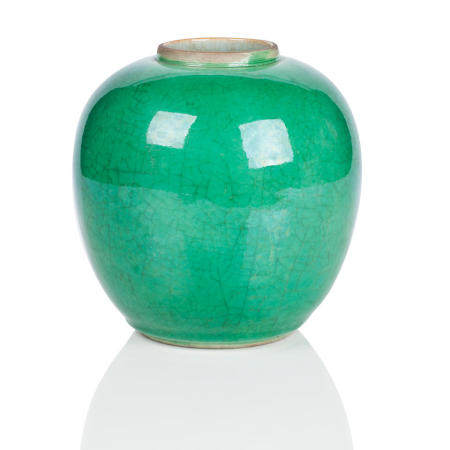 A 'Green ge' glazed jar 19th Century