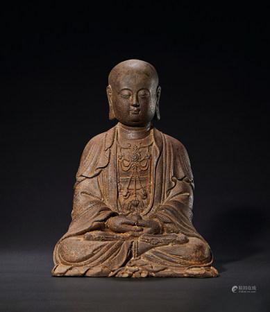清 铁制地藏菩萨造像