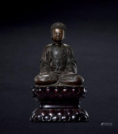 清 铜阿弥陀佛造像