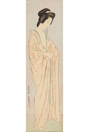 HASHIGUCHI GOYO (1881-1921) AND KABURAKI KIYOKATA (1878-1972) Taisho era (1912-1926), 1920-1923