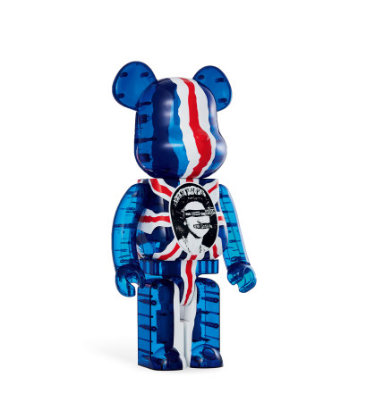 Medicom(1844~1927) 2016年作 Be@rbrick 1000% GOD Save THE QUEEN Clear PVC