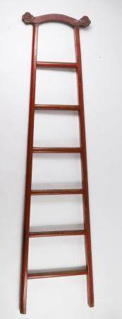 Chinese Red Lacquered Ladder FR3SHLM