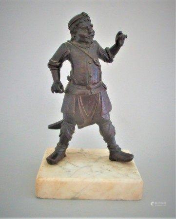 Oriental Bronze Figure on Marble Base FR3SH